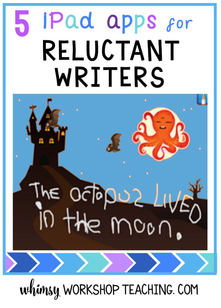 A great list of ipad apps to encourage your most reluctant writers to write!