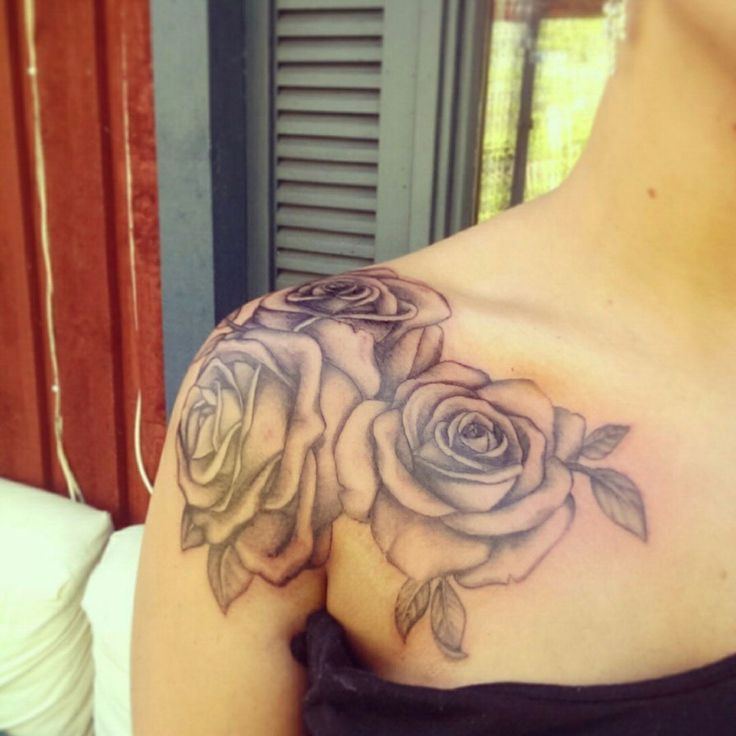 Image result for rose shoulder tattoo