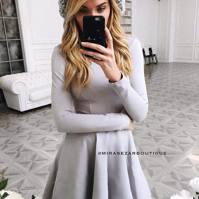 """Не стоит забывать, что мы, девушки, существа нежные.😇 И вот как раз, чтобы окружающие и в первую очередь мы сами, помнили о том, что мы принцессы 👸🏼 #mirasezar предлагает платье Мартини в сером цвете 😻 Стоимость 5500₽ #вналичииmirasezarboutigue ✔Магазин""""АФИМОЛЛ Сити"""" @mirasezarafimoll ✔Магазин """"Принц Плаза"""" @mirasezar.princeplaza ✔Санкт-Петербург @mirasezarpiter ✔Магазины MiraSezar представлены в городах: Алма-Ата @mirasezar_alma_ata  Анапа @mirasezar_anapa  Астана @mirasezar_astana…"""