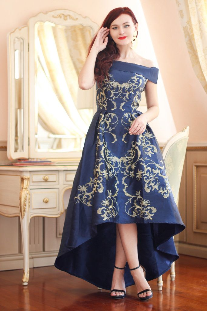 Blue baroque dress