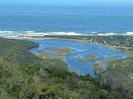 Natures Valley lagoon, Garden Route South Africa