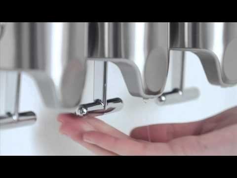 simplehuman | Dreifachspender mit Wandhalterung, Edelstahl - 444ml