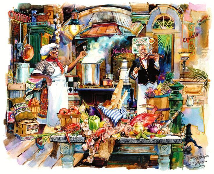 372 best images about cajun paintings art on pinterest for La kitchen delight