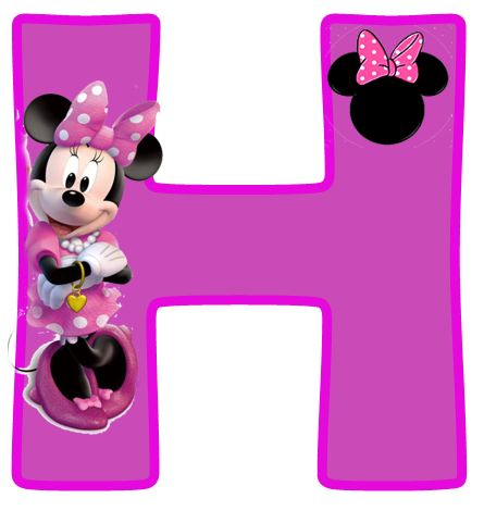 Minnie Free Alphabet in Purple. Alfabeto Púrpura de Minnie.