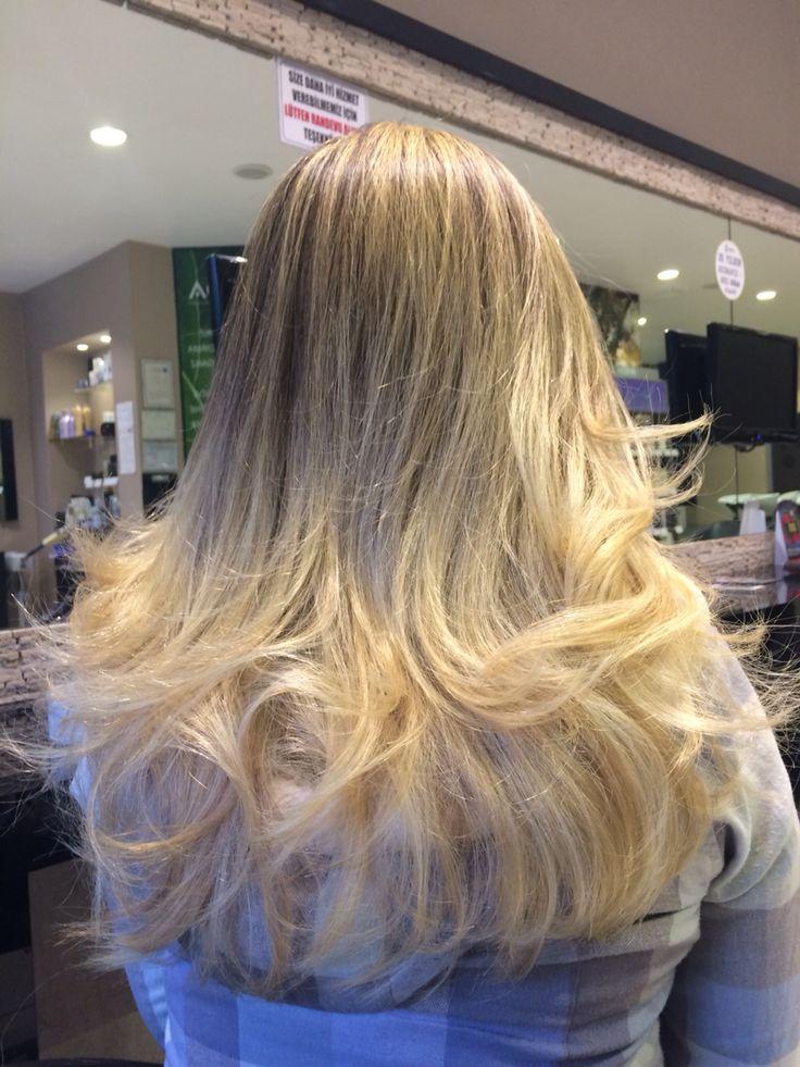 Blond  hair Aveda