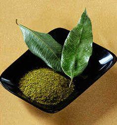 Lemon Myrtle powder and fresh leaves