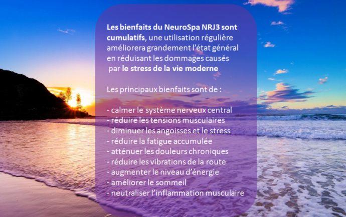 Voici les bienfaits du coussin thérapeutique de massage neuromusculaire NeuroSpa NRJ3. L'essayez, c'est l'adopter quotidiennement #NeuroSpa NRJ3