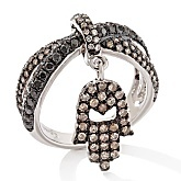 "RaritiesFavorites : Fine Jewelry with Carol Brodie 1.23ct Diamond ""Hamsa"" Charm Ring  #Raritiesfinejewlery"