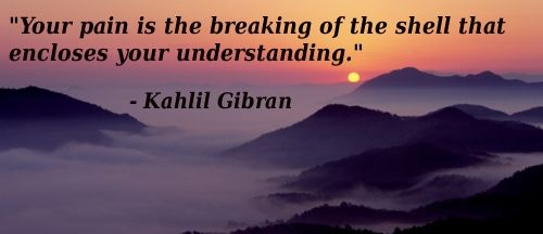 Your pain is the breaking of the shell that encloses your understanding - Kahlil Gibran JUST HAD To repin this one AGAIN! lol