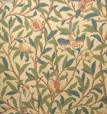 William Morris Bird & Pomegranate Tapet
