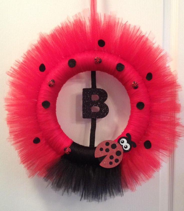 Ladybug tutu wreath
