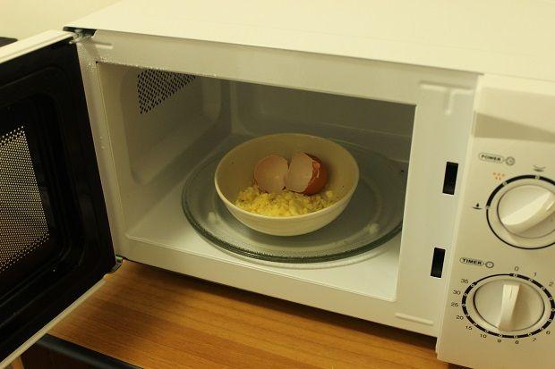 Míchaná vajíčka za minutu.