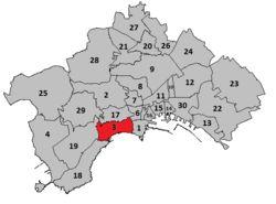 Chiaia- Il suo nome deriva dal termine latinoplaga, attraverso il catalanoplatjao il castiglianoplaya(che significaspiaggia), poi declinatosi inChiajaper motivi linguistico-dialettali[1]. Su alcune lapidi viarie del quartiere si nota ancora la dicituraChiajamentre su altre il quartiere è semplicementeChiaia.  Cenni storiciModifica  Nella sua conformazione odierna Chiaia nacque nelXVI secoloconsistendo esclusivamente in un borgo al di fuori delle mura cittadine. Tutto il terreno…