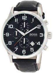 Men's Black Hugo Boss Chronograph Watch 1512448