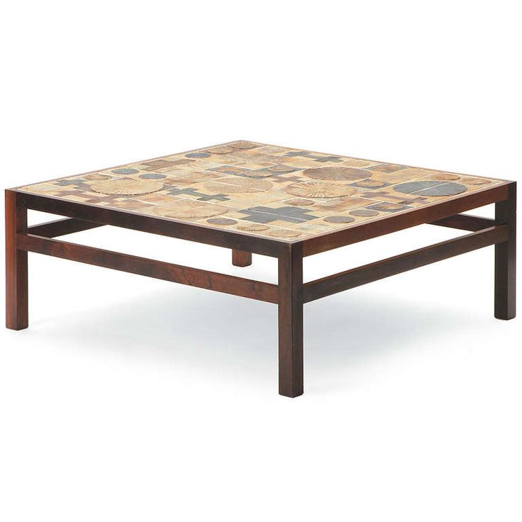 1stdibs | Tile Top Low Table By Tue Poulsen