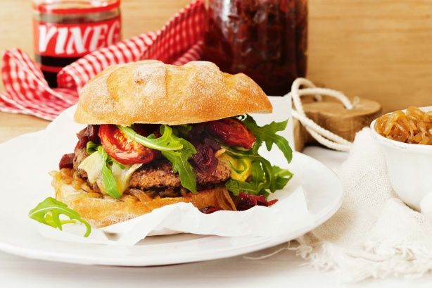 Impress your guests with this truly gourmet beef #burger.