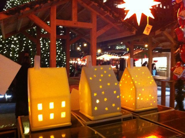 """Not only Herrnhut Stars, find also these wonderful lighthouses at our """"Herrnhuter Sterne"""" booth at the Vancouver Christmas Market. #mybrilliantstar #herrnhutstar #moravianstar #christmas #decoration #vancouverchristmasmarket"""