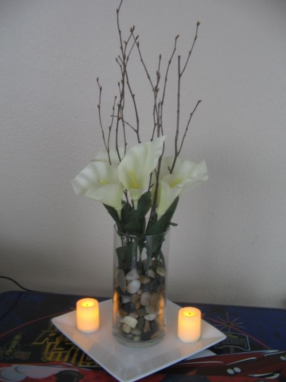 Calla Lilly Centerpiece Wedding Diy Reception 010 Would Use Purple Lilies For This Instead
