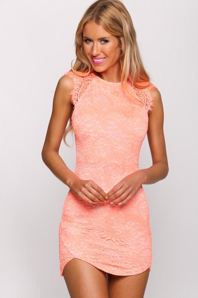 HelloMolly - Just Desserts Dress Neon Orange - Party Dresses ...