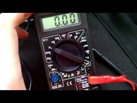 как правильно померить ток заряда аккумулятора - YouTube