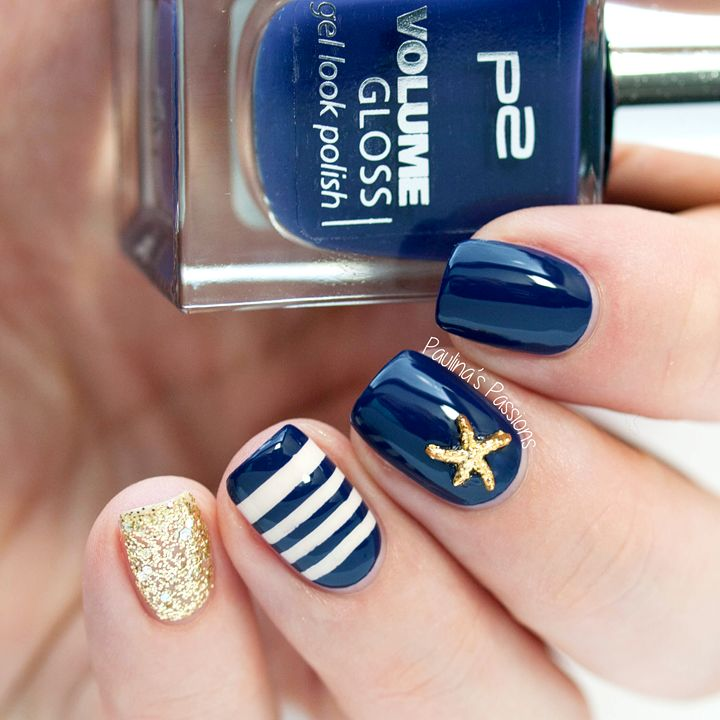 Sailor Nails with Starfish Stud