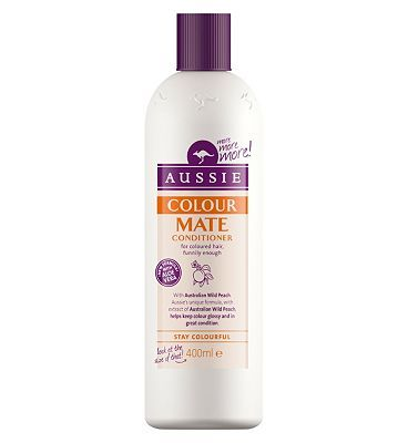#Aussie Colour Mate Conditioner 400ml 10136013 #20 Advantage card points. Aussie know that choosing to add a bit of colour in your life doesnt mean you have to sacrifice the condition of your hair. Aussie Colour Mate Conditioner gently conditions and protects coloured hair, restoring its natural health and shine. FREE Delivery on orders over 45 GBP. (Barcode EAN=5410076518500)