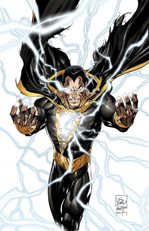 "BLACK ADAM: When Teth Adam/Theo Adam says the magic word ""Shazam"", he is transformed into Black Adam and granted many powers derived from ancient Egyptian gods: stamina, speed, strength, and flight."