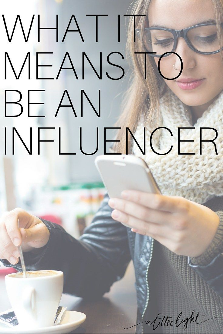 What It Means to Be An Influencer.  From A Little Light, a community for Canadian Christian women online.
