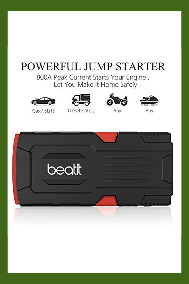 Beatit d11 800a peak 18000mah 12v portable car jump