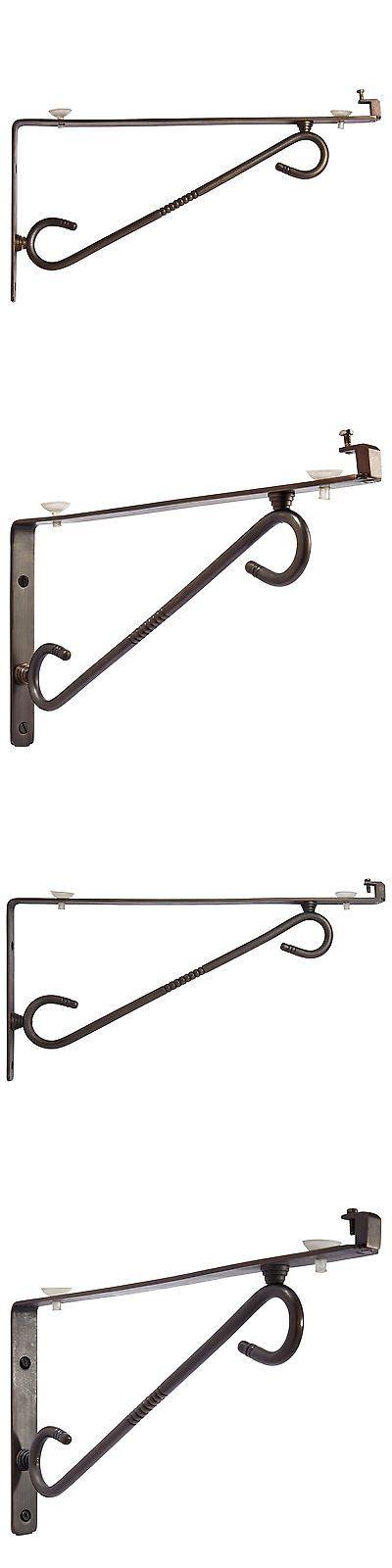 Braces and Brackets 45816: Signature Hardware Scrolling Arm Glass Shelf Bracket -> BUY IT NOW ONLY: $33.95 on eBay!