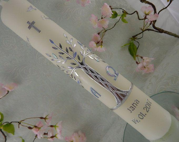 Candela - albero della vita - battesimo - battesimo candele - candele albero della vita di battesimo - battesimo ragazzo - ragazze - battesimo regali di battesimo di battesimo