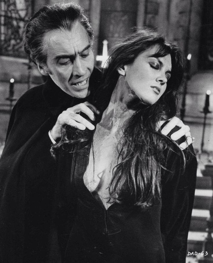 Christopher Lee and Caroline Munro