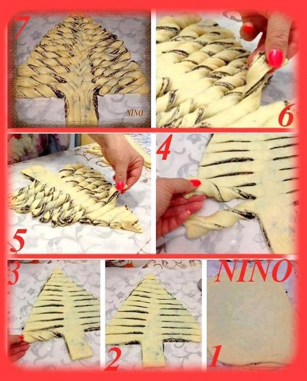 CHRISTMAS TREE WITH NUTELLA FILLING (WITH THERMOMIX)