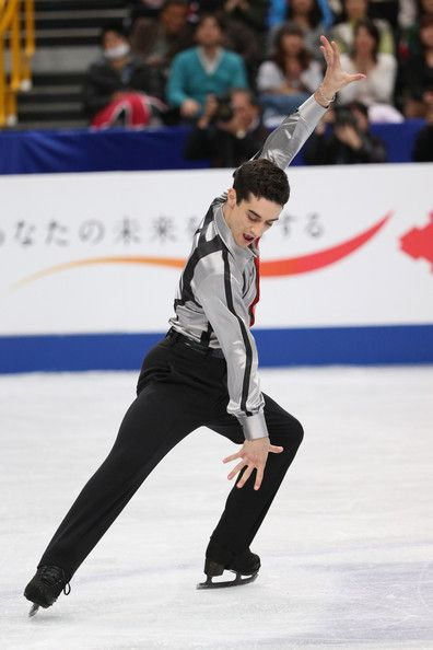 Javier Fernandez of Spain competes in the Men's Free Skating during ISU World Figure Skating Championships at Saitama Super Arena on March 2...
