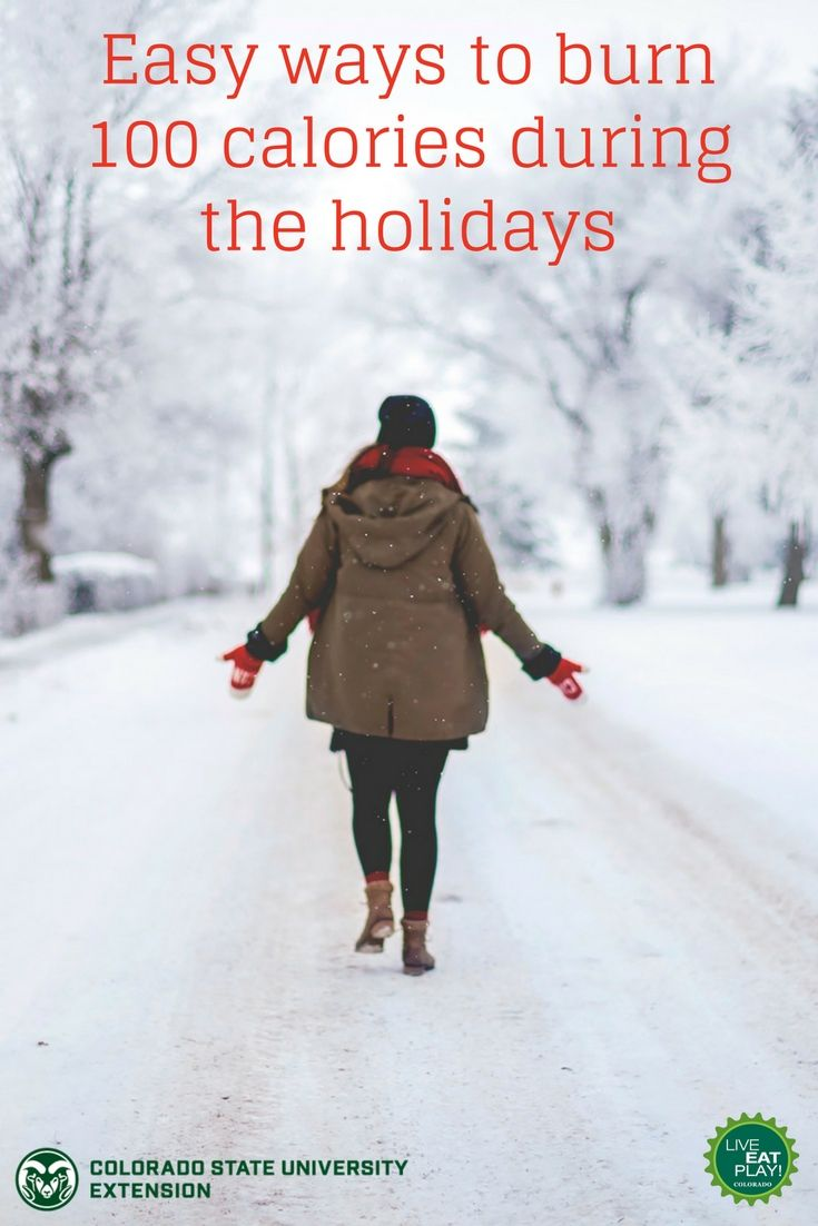 A lot of us worry about unwanted weight gain during the holidays. To help you stay active, here are 10 easy ways to burn 100 calories during the holidays!