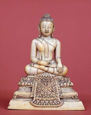 Buddha, Ratanakosin style, 18th-19th century (ivory)  National Museum,Bangkok,Thailand