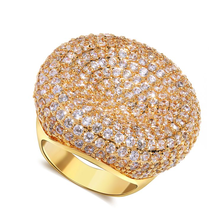 Оптовая цена на золото с гальваническим покрытием кубического циркония медные Кольца женщины Кольцо ювелирные изделия Праздничная Распродажа Бесплатная доставка