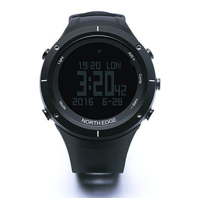 NORTH EDGE Mens Sport Digital watch Running Swimming Altimeter Barometer Compass Thermometer Weather Pedometer