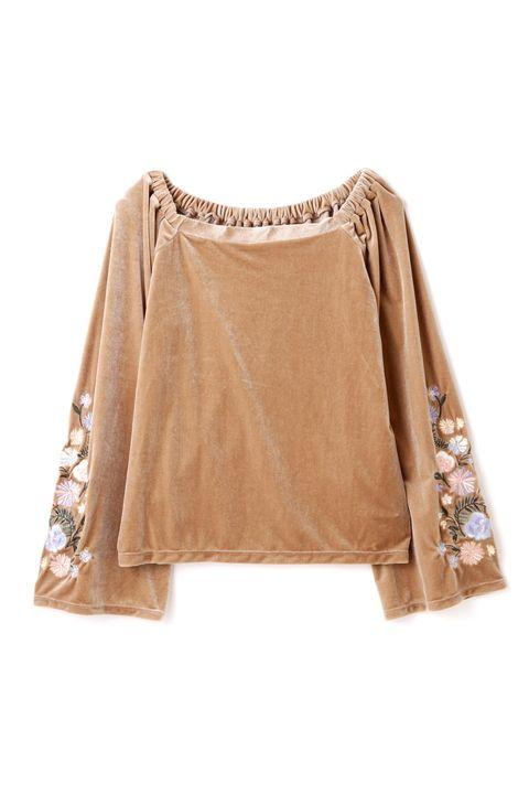 ベロア袖刺繍カットソー | カットソー・Tシャツ | FREE'S MART | MIX.Tokyo