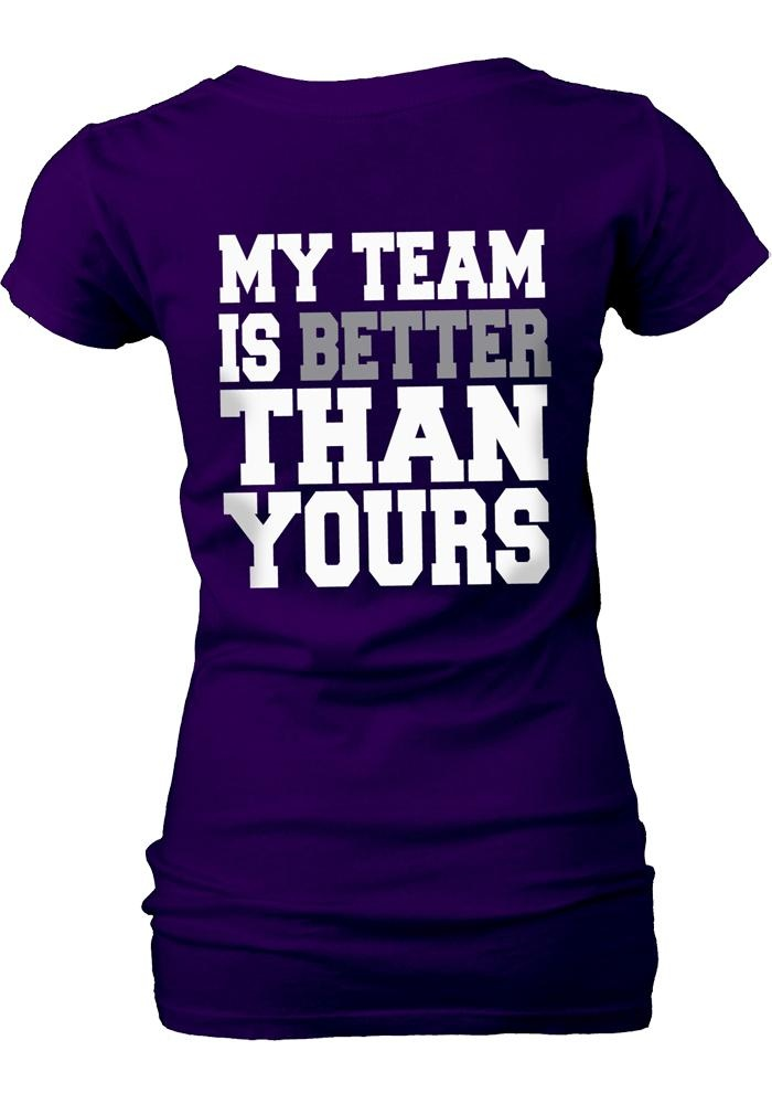 Top Seller! Kansas State Wildcats V-Neck Shirt- Women's My Team Is Better Than Yours! (back)