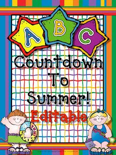 I am totally doing a countdown to summer with all the letters and activities that go with . . . are you?  This is a great resource and EDITABLE.  Love That!  Live, Love, Laugh Everyday in Kindergarten: ABC Countdown to Summer!!