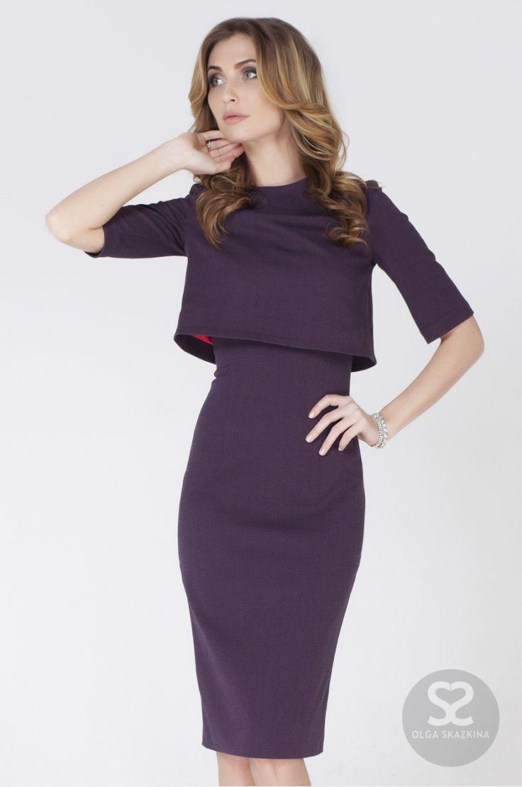 Стильное платье футляр с болеро от дизайнера | Skazkina