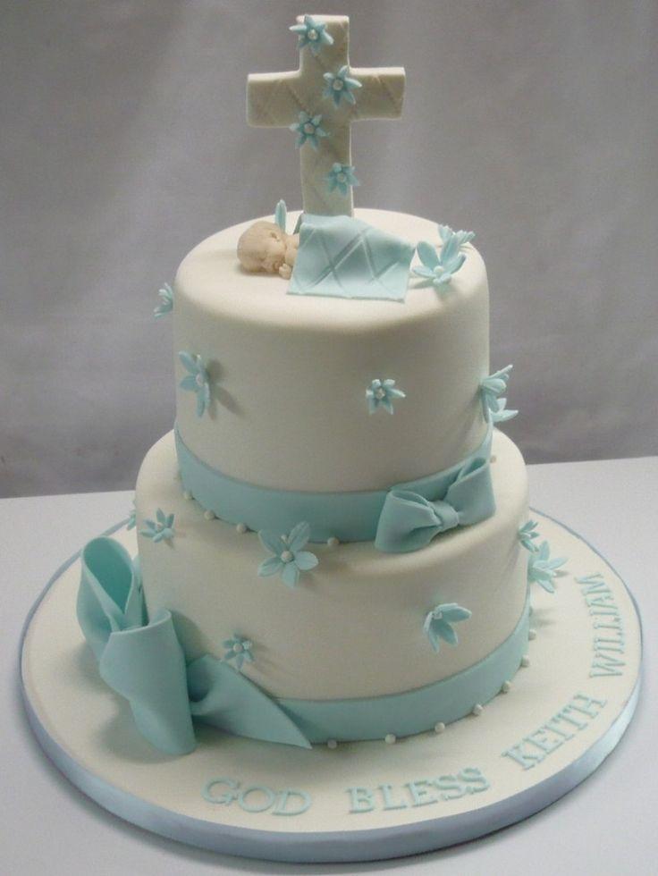 Idée pour gâteau de baptême garçon