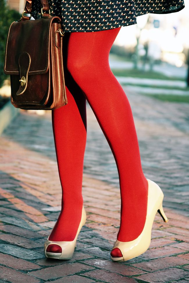 114 best How to wear: Coloured Tights images on Pinterest ...