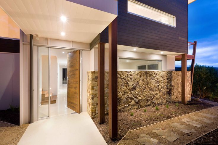 Bay Street house: We like the different building materials and simplicity of the house shape