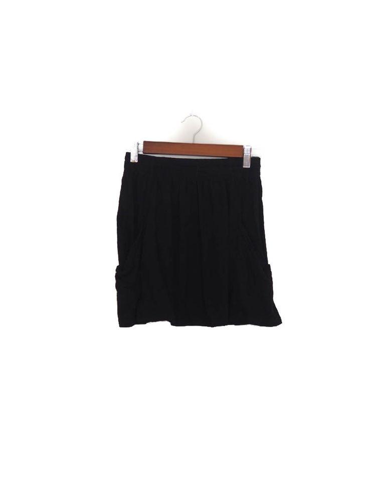 Falda mini bolsillos, negra, algodón, Zara Mini skirt, black, cotton