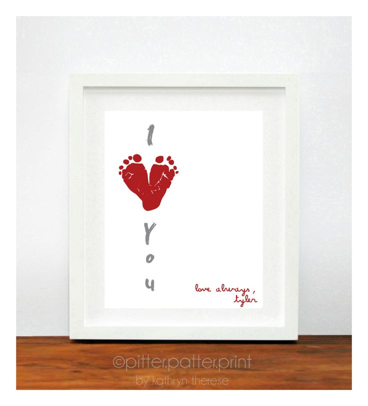 Valentines Day print... Would be cute to do for new moms and dads at work (in OB dept) with their sweet new baby :)
