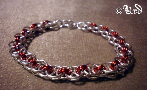 Elegant silverplated chainmaille bracelet  Helm by UrdHandicrafts, $16.00