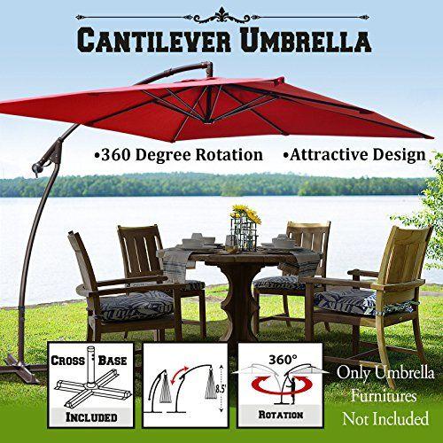 Cheap 8x8 Cantilever Banana Umbrella Patio Offset Parasol Garden Outdoor Sunshade Hanging Market360C Rotational Function (Burgundy) https://homepatiogarden.net/cheap-8x8-cantilever-banana-umbrella-patio-offset-parasol-garden-outdoor-sunshade-hanging-market-360c-rotational-function-burgundy/