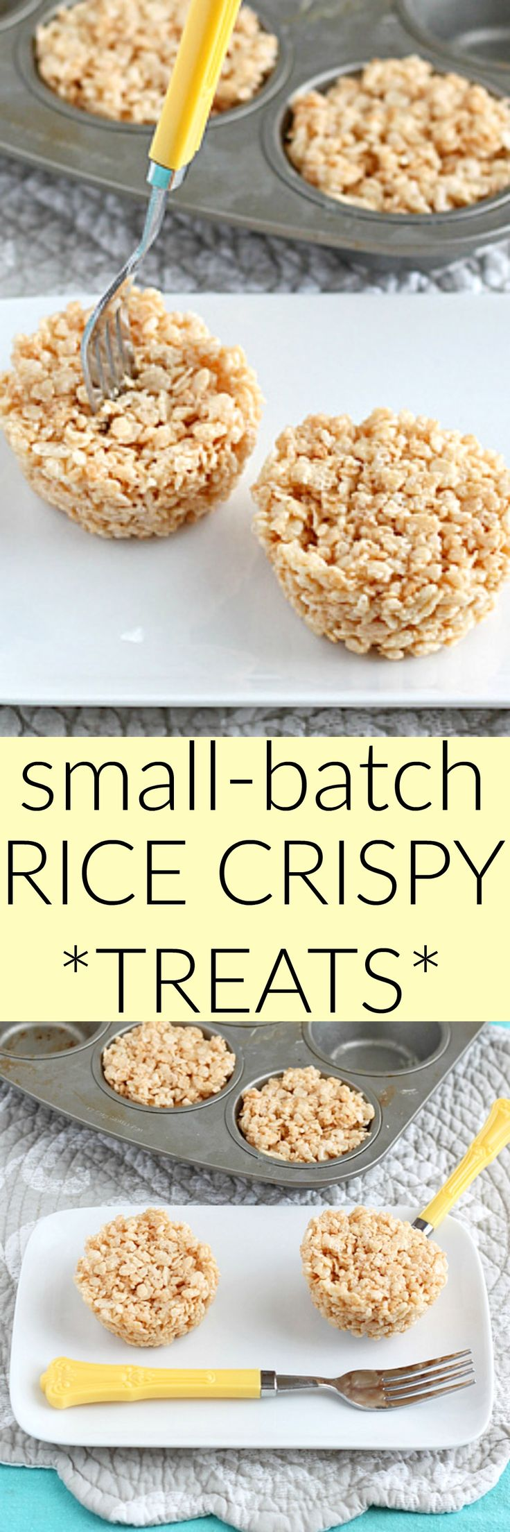 A small batch of rice krispie treats. Make it in a muffin pan for 4 servings. Or two :)